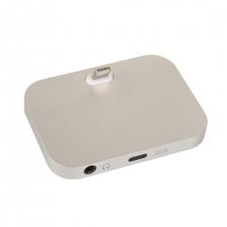 Dockovací stanice pro iPhone / iPod vč. 3,5mm jack - stříbrná
