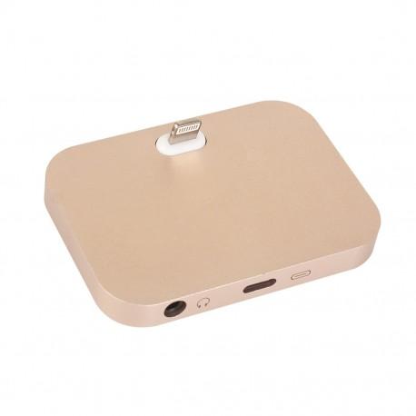 Dockovací stanice pro iPhone / iPod vč. 3,5mm jack - zlatá