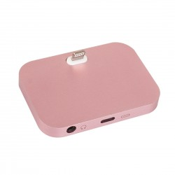 Dockovací stanice pro iPhone / iPod vč. 3,5mm jack - růžová