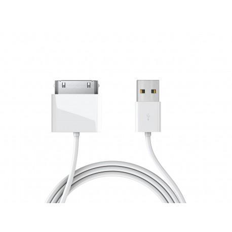 30-pin datový a napájecí kabel USB - bílý