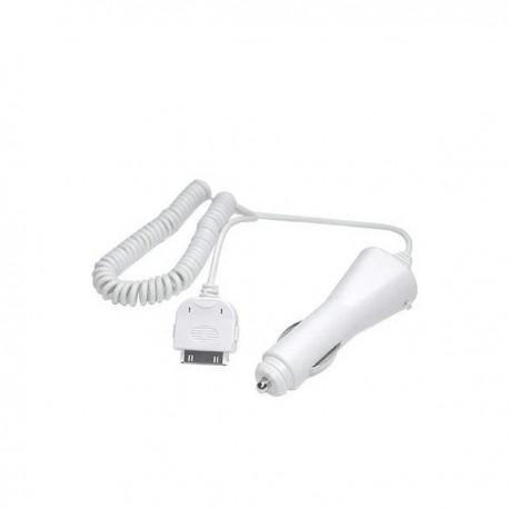 Auto adaptér pro 30-pin Apple konektor - bílý